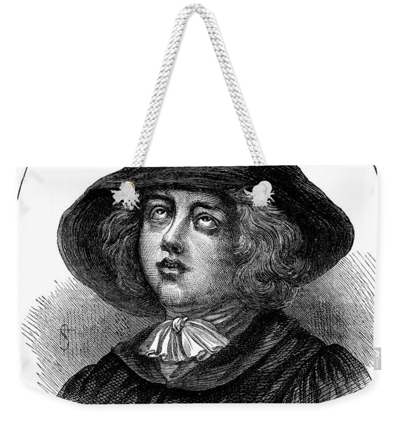 English Weekender Tote Bag featuring the photograph George Fox (1624-1691) by Granger