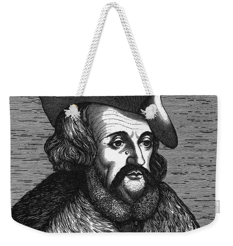 History Weekender Tote Bag featuring the photograph Girolamo Fracastoro, Italian Polymath by Science Source