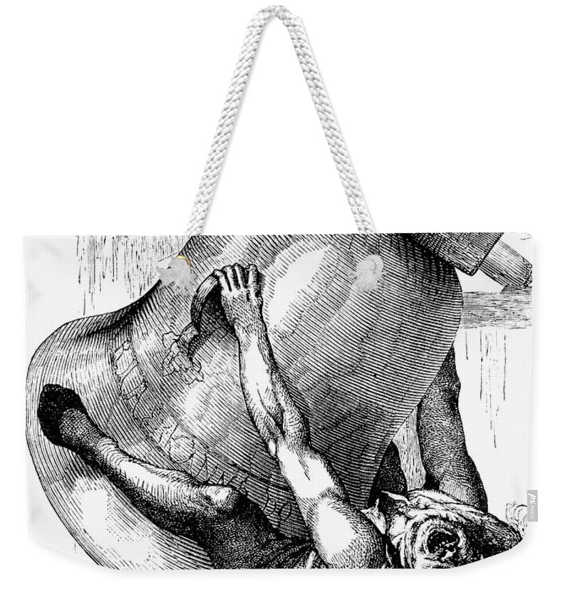 19th Century Weekender Tote Bag featuring the photograph Hunchback Of Notre Dame by Granger