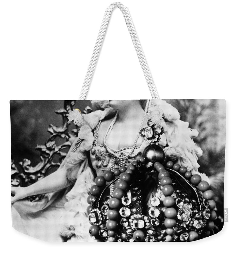 1890s Weekender Tote Bag featuring the photograph Lillian Russell (1861-1922) by Granger