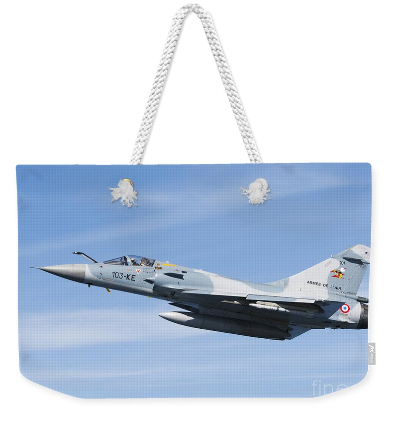 Evreux Weekender Tote Bag featuring the photograph Mirage 2000c Of The French Air Force by Gert Kromhout