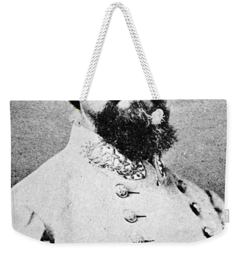 1864 Weekender Tote Bag featuring the photograph Nathan Bedford Forrest by Granger