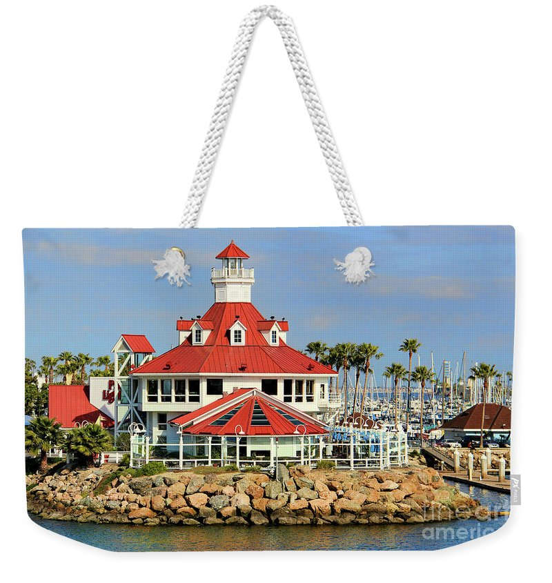 Long Weekender Tote Bag featuring the photograph Parker's Lighthouse Restaurant by Mariola Bitner