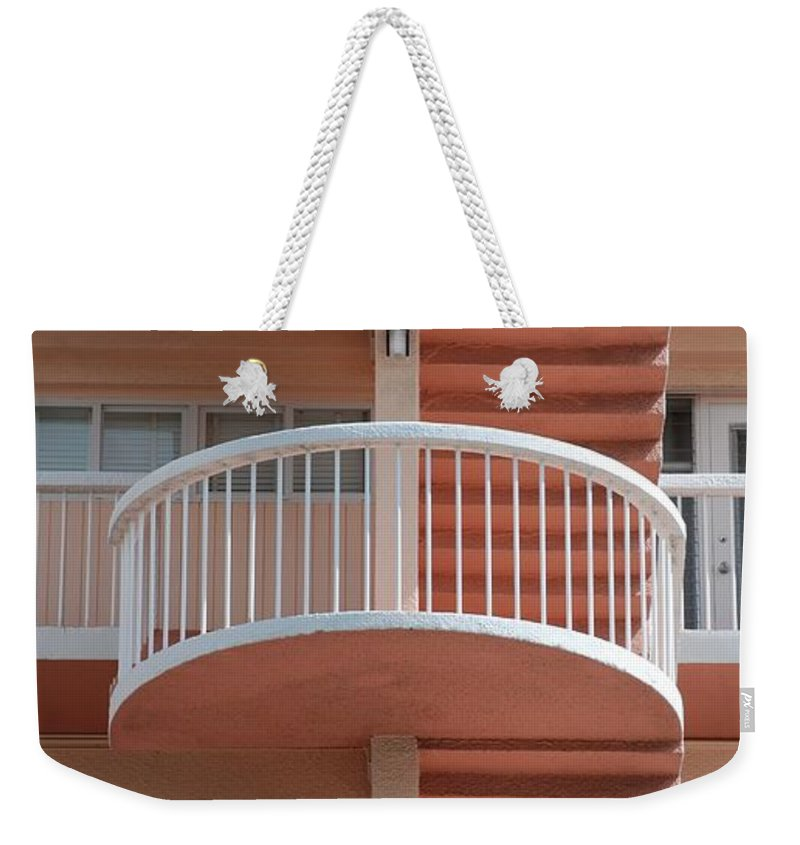 Architecture Weekender Tote Bag featuring the photograph 3 Rails by Rob Hans