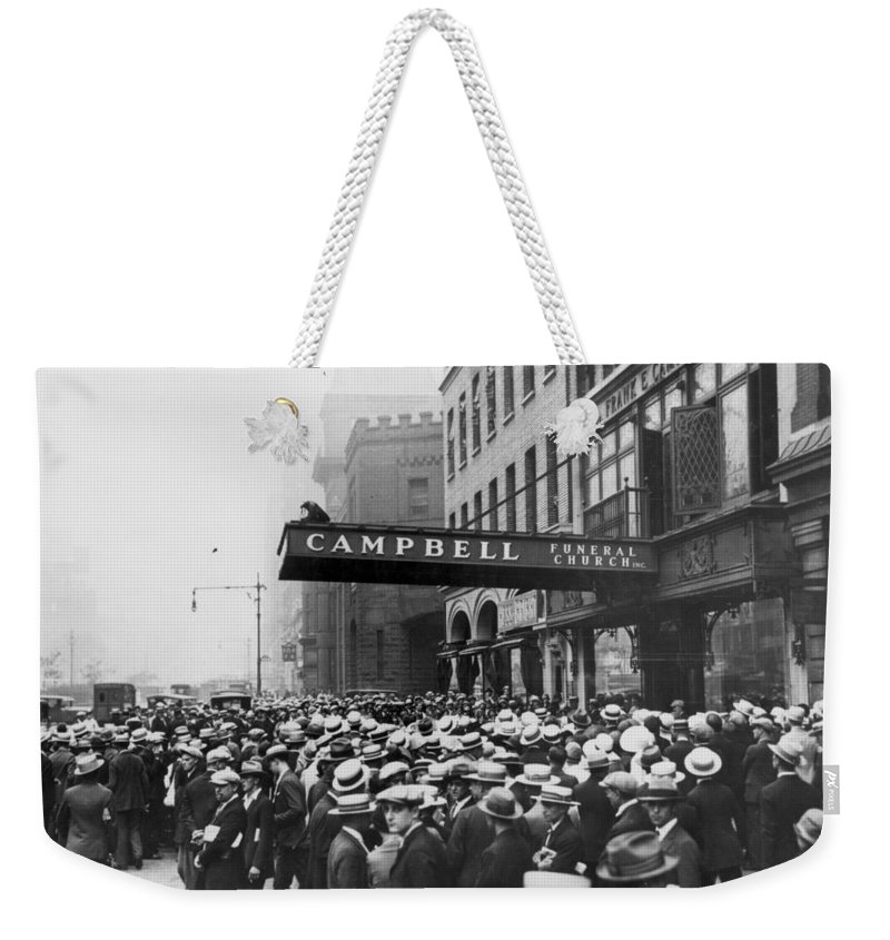 -ecq- Weekender Tote Bag featuring the photograph Rudolph Valentino by Granger