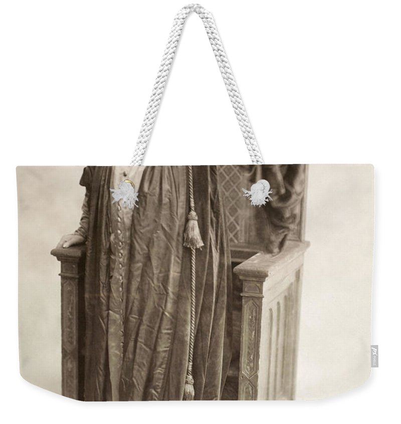 1917 Weekender Tote Bag featuring the photograph Sarah Bernhardt by Granger