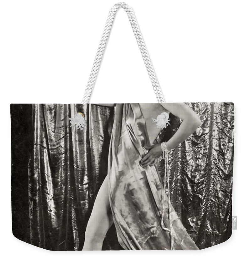 -women Costumes- Weekender Tote Bag featuring the photograph Silent Film Still: Costume by Granger