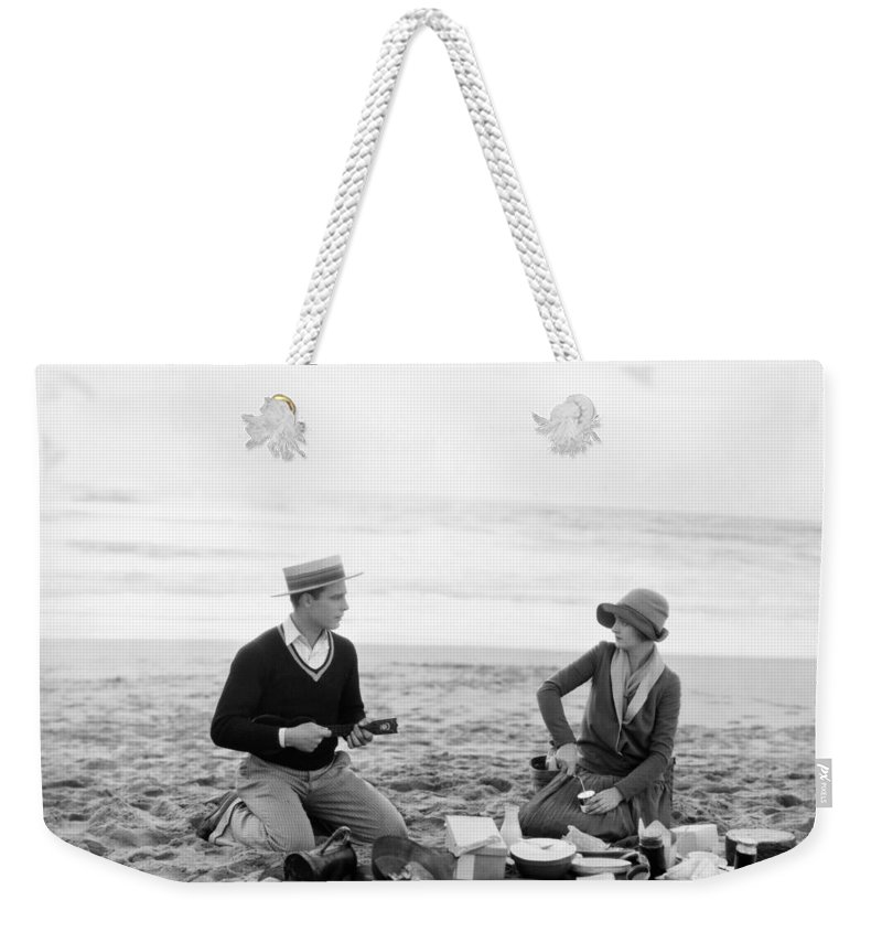 -picnic- Weekender Tote Bag featuring the photograph Silent Film Still: Picnic by Granger