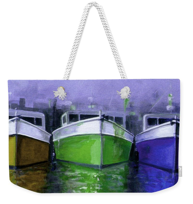 Australian Weekender Tote Bag featuring the painting 3 Sisters 3 by Giro Tavitian