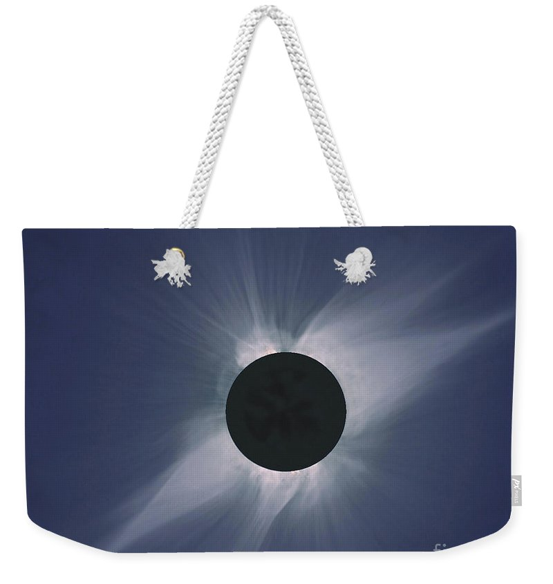 Solar Eclipse Weekender Tote Bag featuring the photograph Solar Eclipse by Nasa