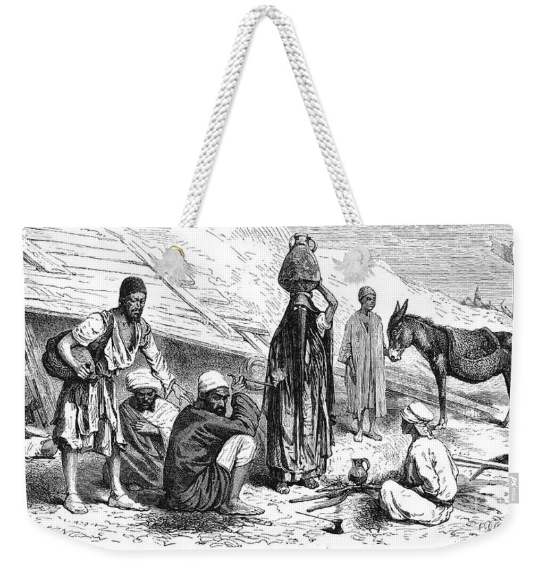 1869 Weekender Tote Bag featuring the photograph Suez Canal Construction by Granger