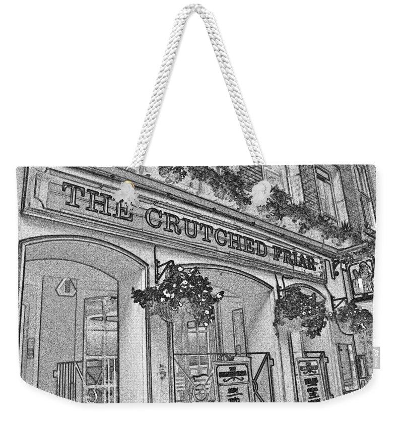 Pub Weekender Tote Bag featuring the digital art The Crutched Friar Public House by David Pyatt