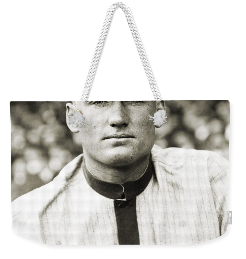 20th Century Weekender Tote Bag featuring the photograph Walter Perry Johnson by Granger