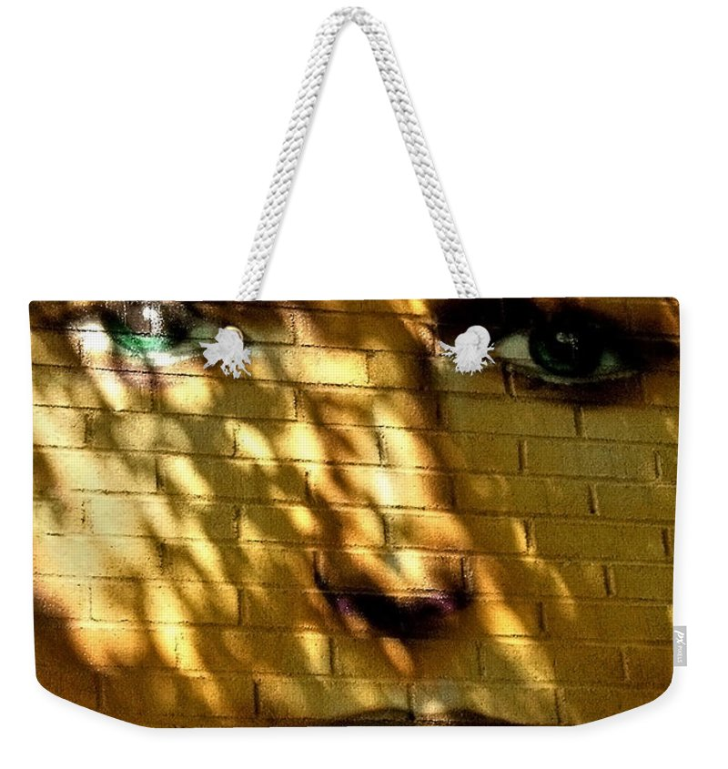 Graffiti Weekender Tote Bag featuring the photograph Watching You ... by Juergen Weiss