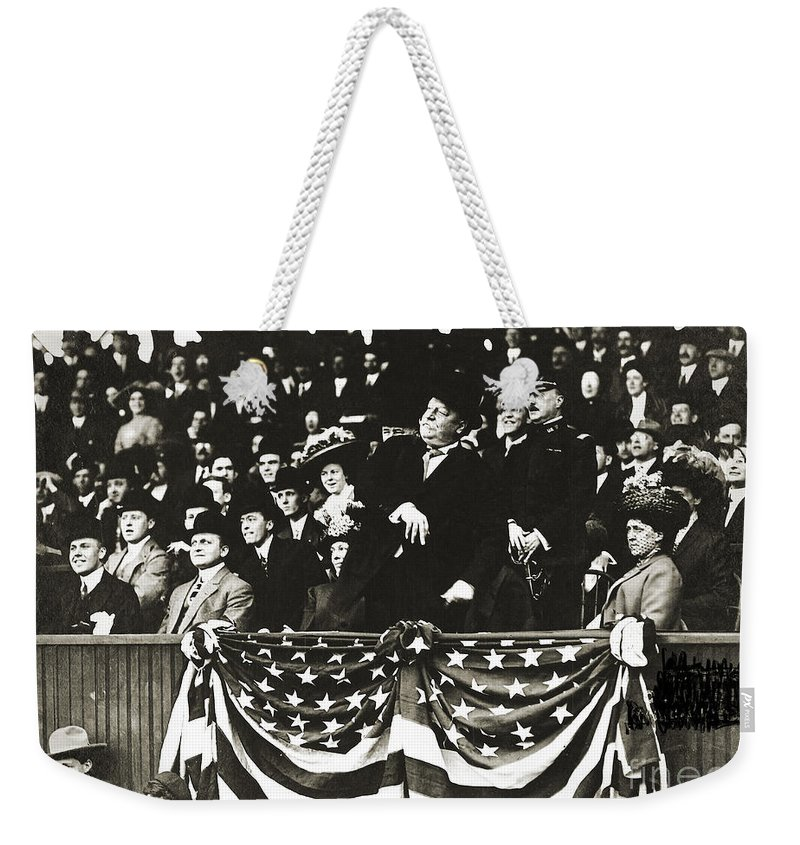 1910 Weekender Tote Bag featuring the photograph William Howard Taft by Granger