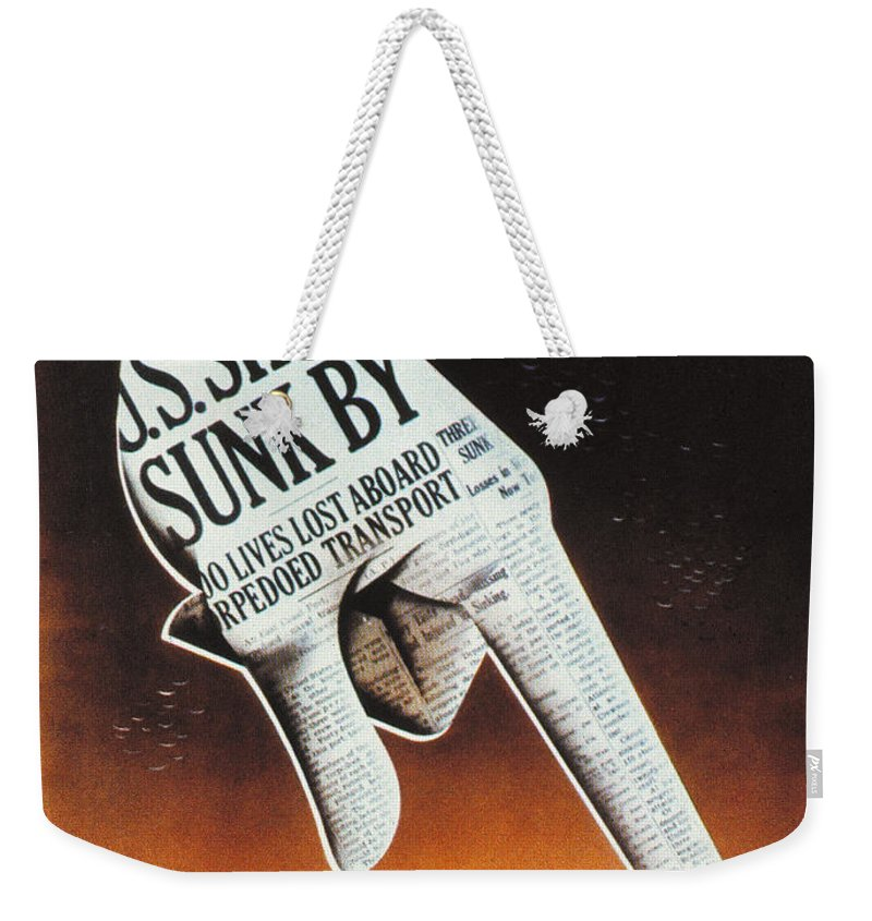 1942 Weekender Tote Bag featuring the photograph World War II: U.s. Poster by Granger