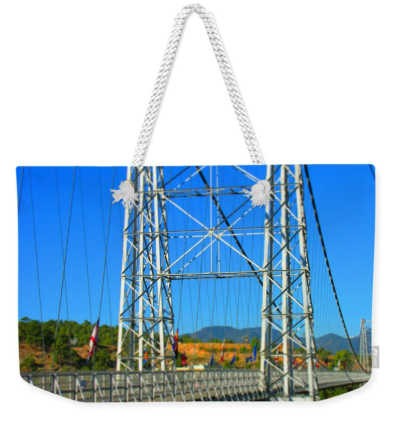 Bridge Weekender Tote Bag featuring the photograph Untitled by Adam Vance