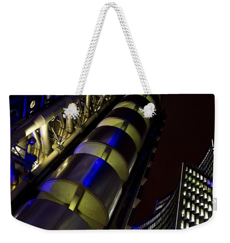Lloyd's Weekender Tote Bag featuring the photograph Lloyd's Building London by David Pyatt