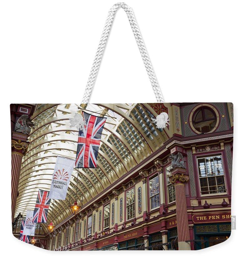 Leadenhall Market Weekender Tote Bag featuring the photograph Leadenhall Market London by David Pyatt