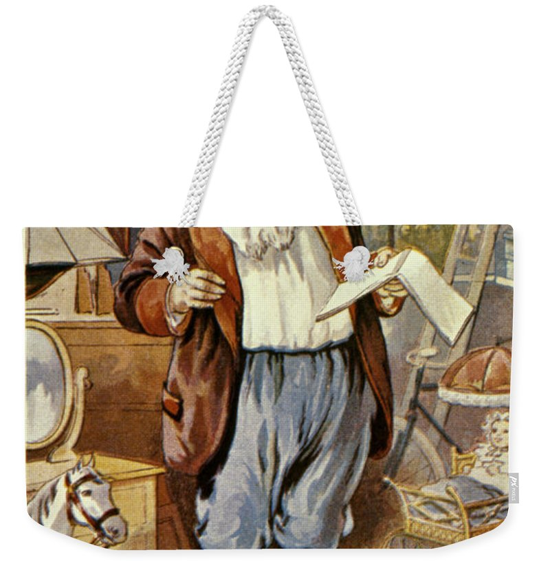 19th Century Weekender Tote Bag featuring the photograph American Christmas Card by Granger