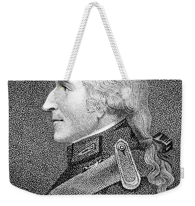 19th Century Weekender Tote Bag featuring the photograph Benjamin Thompson by Granger