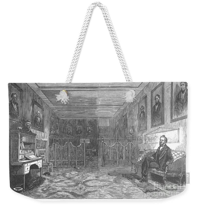 1871 Weekender Tote Bag featuring the photograph Brigham Young (1801-1877) by Granger
