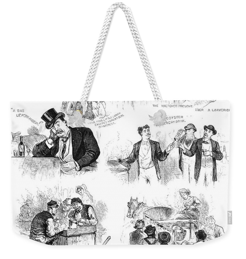 1876 Weekender Tote Bag featuring the photograph Centennial Fair, 1876 by Granger