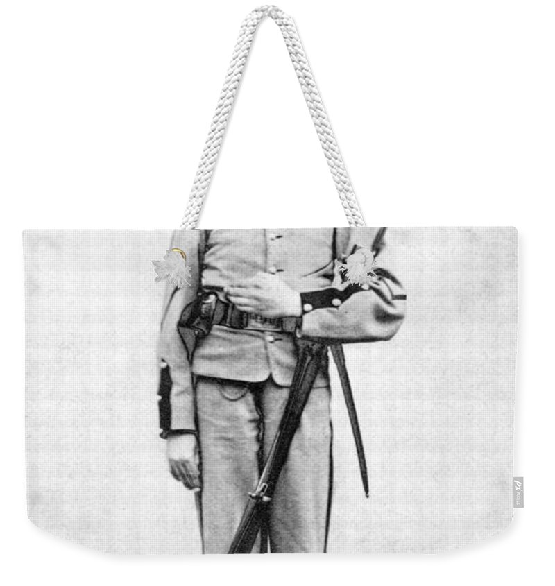 1863 Weekender Tote Bag featuring the photograph Civil War Soldier by Granger