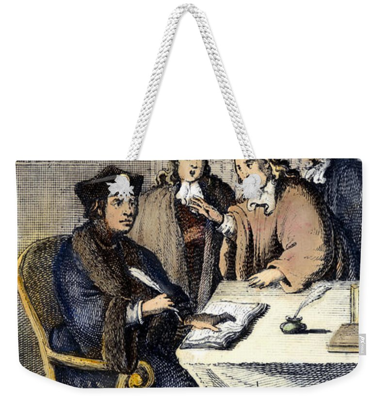 1500 Weekender Tote Bag featuring the photograph Desiderius Erasmus by Granger