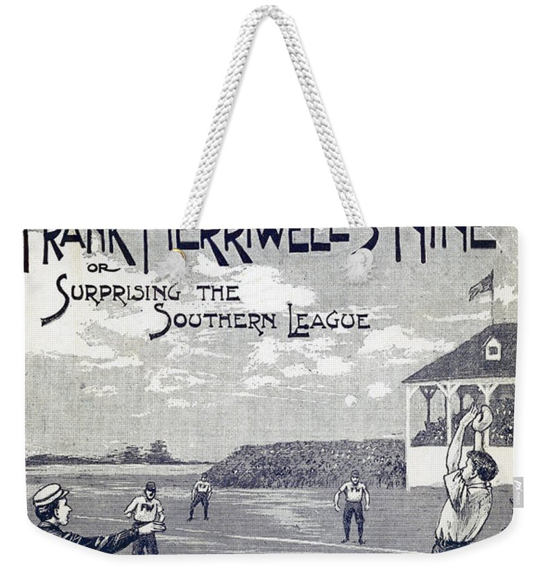 1897 Weekender Tote Bag featuring the photograph Dime Novel, 1897 by Granger