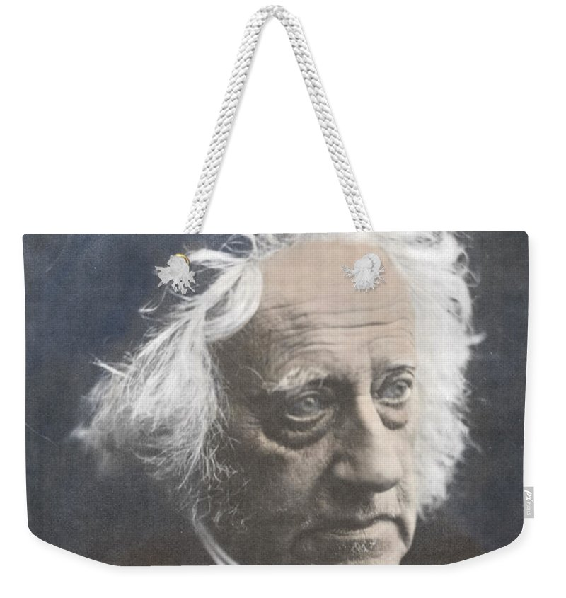 Science Weekender Tote Bag featuring the photograph John Herschel, English Polymath by Science Source