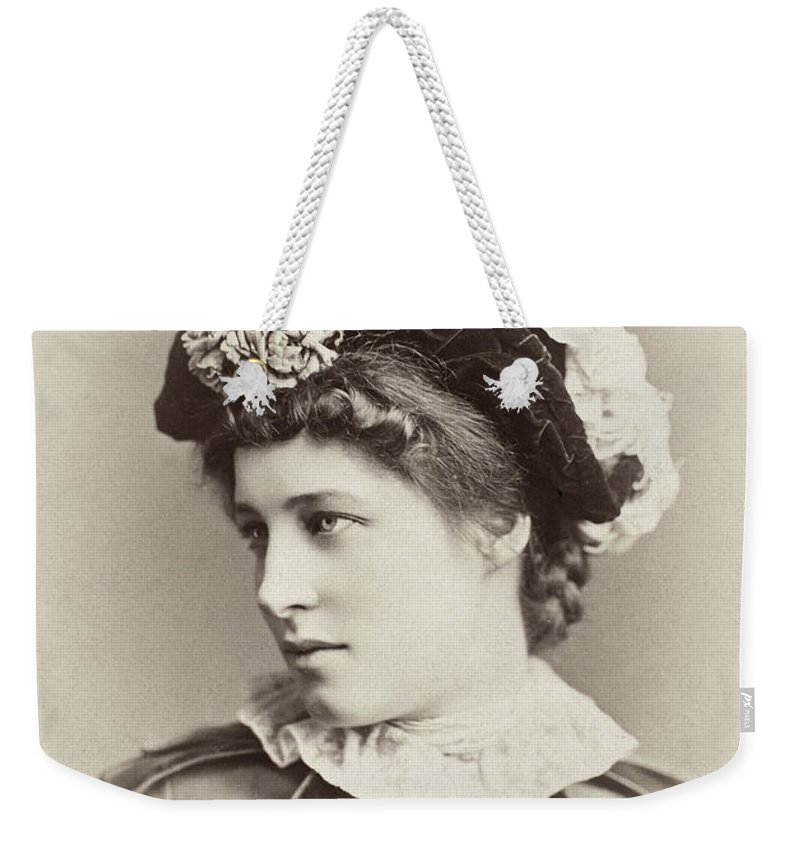 19th Century Weekender Tote Bag featuring the photograph Lillie Langtry (1852-1929) by Granger