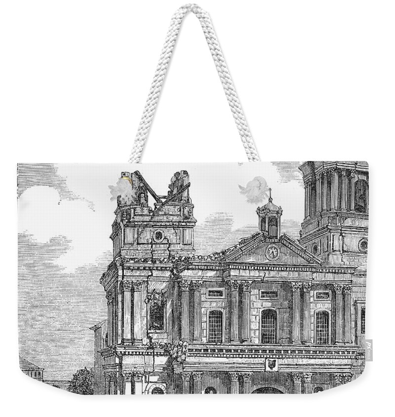 1863 Weekender Tote Bag featuring the photograph Manila: Earthquake, 1863 by Granger