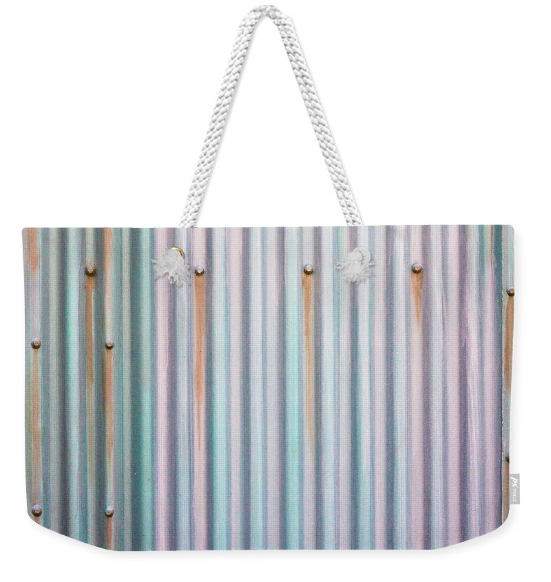 Background Weekender Tote Bag featuring the photograph Metal Background by Tom Gowanlock