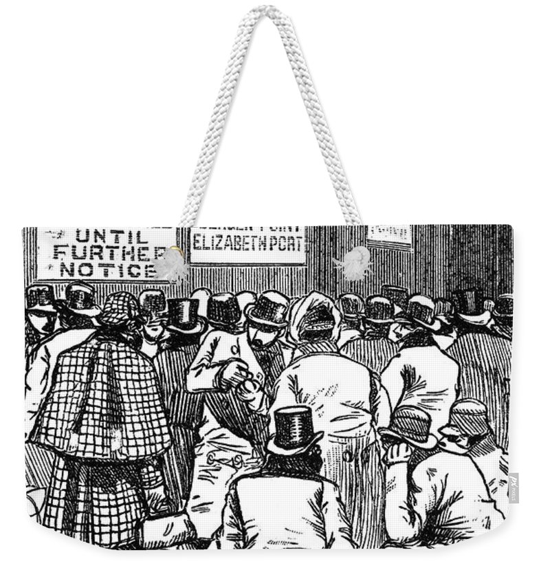1888 Weekender Tote Bag featuring the photograph New York: Blizzard Of 1888 by Granger