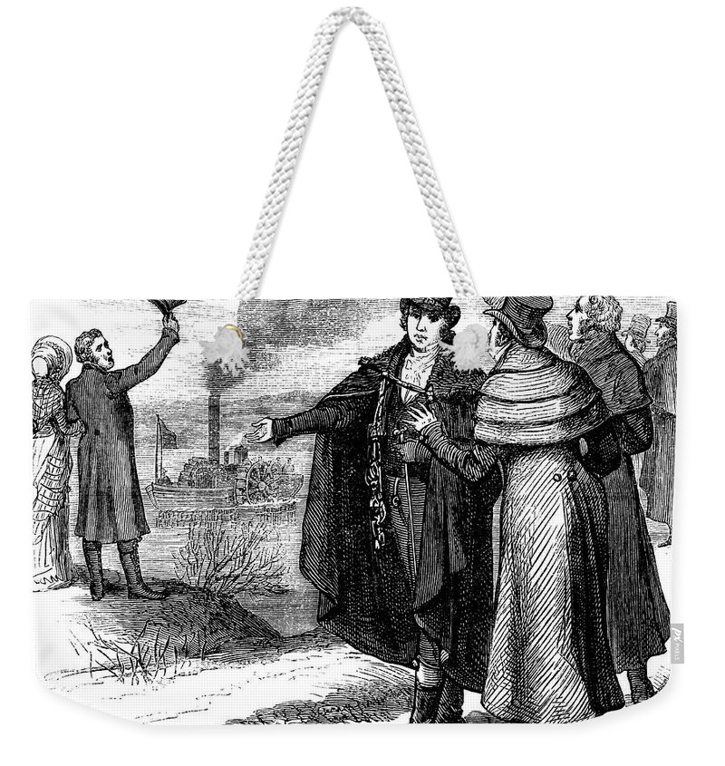 1807 Weekender Tote Bag featuring the photograph Robert Fulton (1765-1815) by Granger