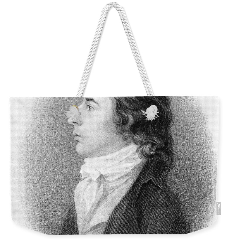 19th Century Weekender Tote Bag featuring the photograph Robert Southey (1774-1843) by Granger