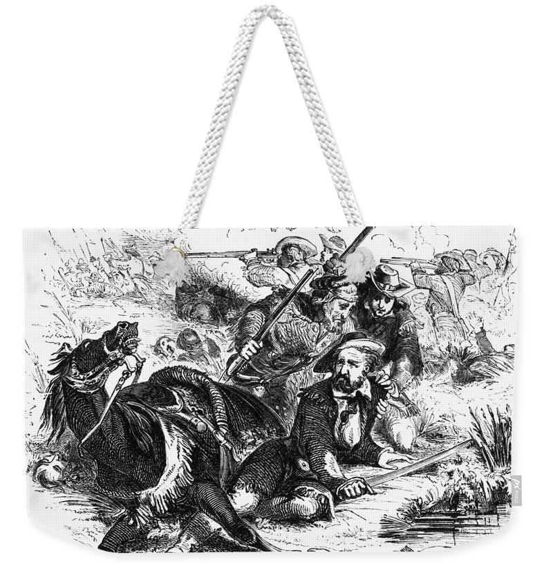 American Weekender Tote Bag featuring the photograph Sam Houston (1793-1863) by Granger