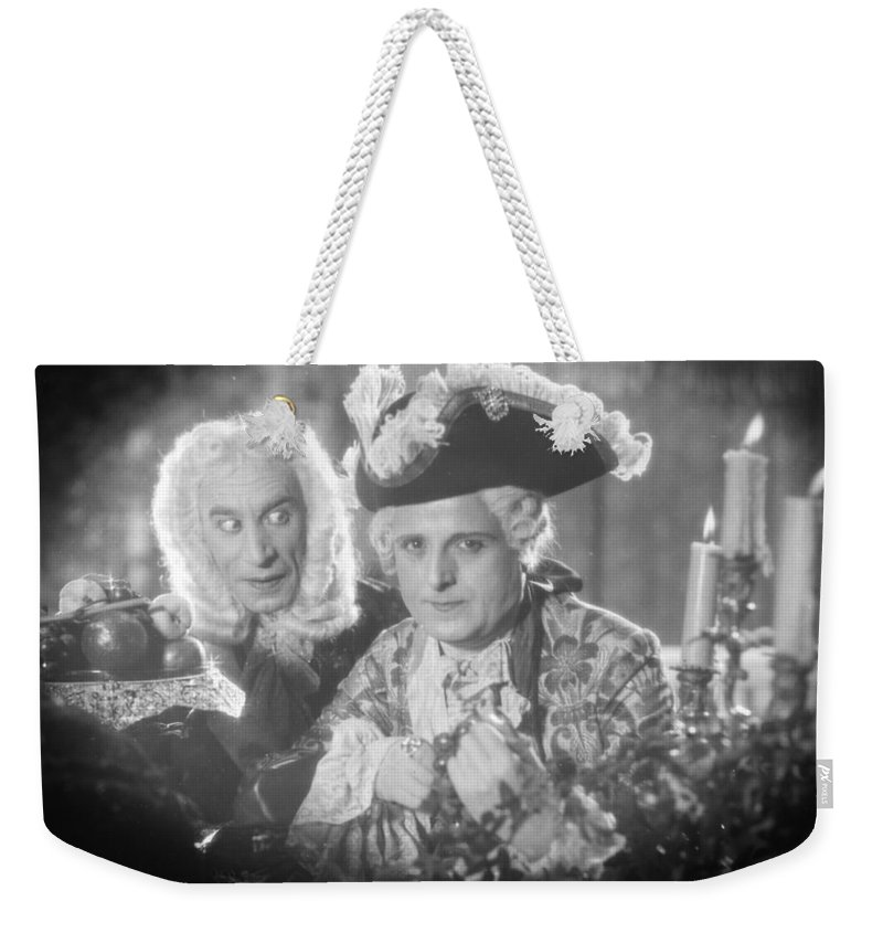 -man Two- Weekender Tote Bag featuring the photograph Silent Still: Two Men by Granger