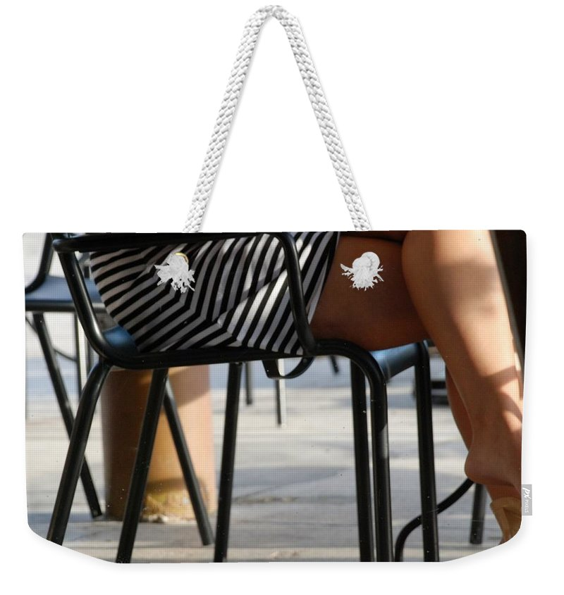 Women Weekender Tote Bag featuring the photograph Stripped Dress by Rob Hans