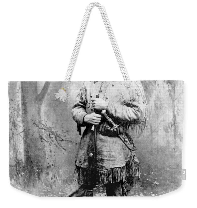 1885 Weekender Tote Bag featuring the photograph Theodore Roosevelt by Granger