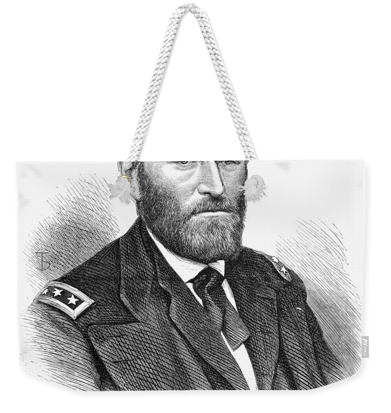 1868 Weekender Tote Bag featuring the photograph Ulysses S. Grant by Granger
