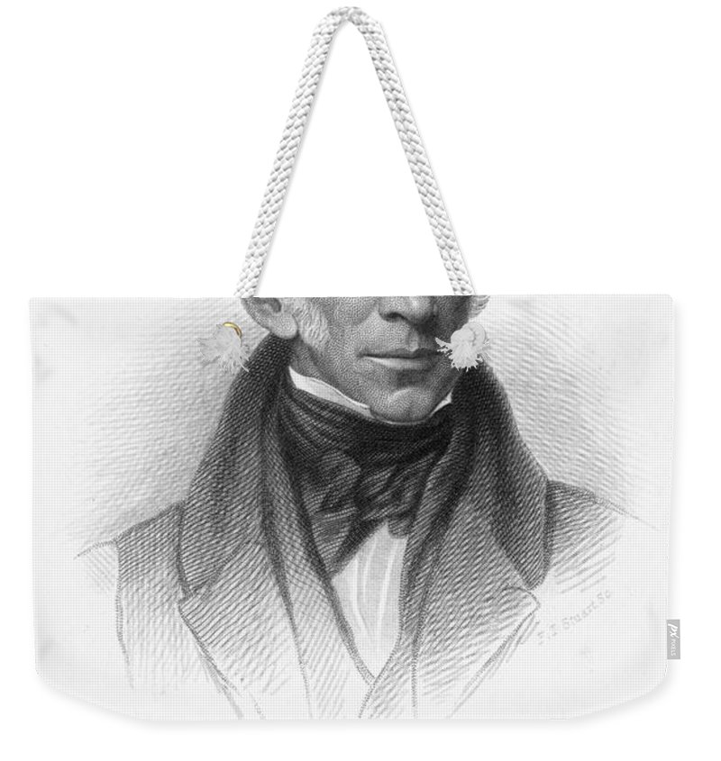 19th Century Weekender Tote Bag featuring the photograph William Wordsworth by Granger