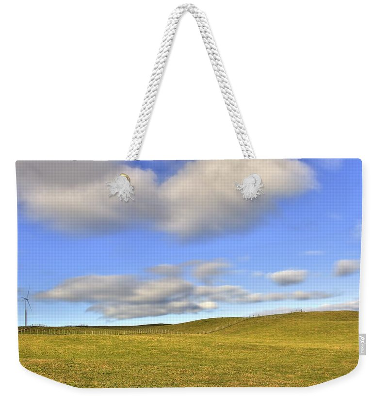 Landscape Weekender Tote Bag featuring the photograph Wind Turbine by Les Cunliffe