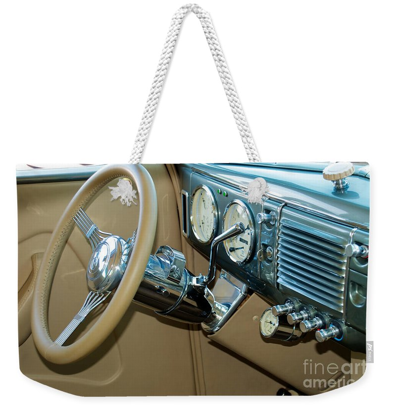 40 Ford Coupe Weekender Tote Bag featuring the photograph 40 Ford Coupe Dash by Mark Dodd