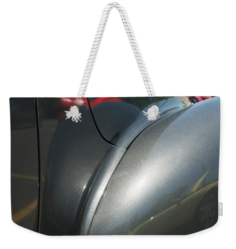1941 Hudson Super Six Weekender Tote Bag featuring the photograph 41 Hudson Super Six Fender 1 by Mark Dodd