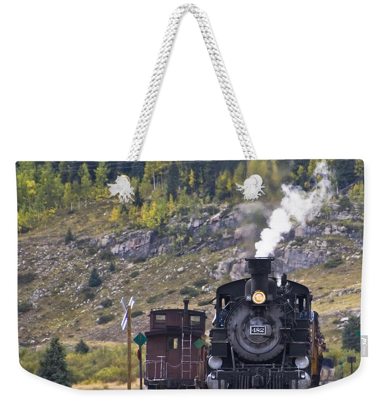 Drgw Weekender Tote Bag featuring the photograph 482 In Silverton by Tim Mulina