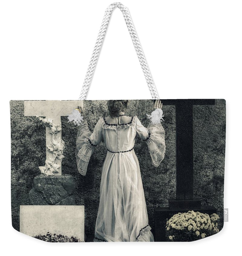 Girl Weekender Tote Bag featuring the photograph Angel by Joana Kruse