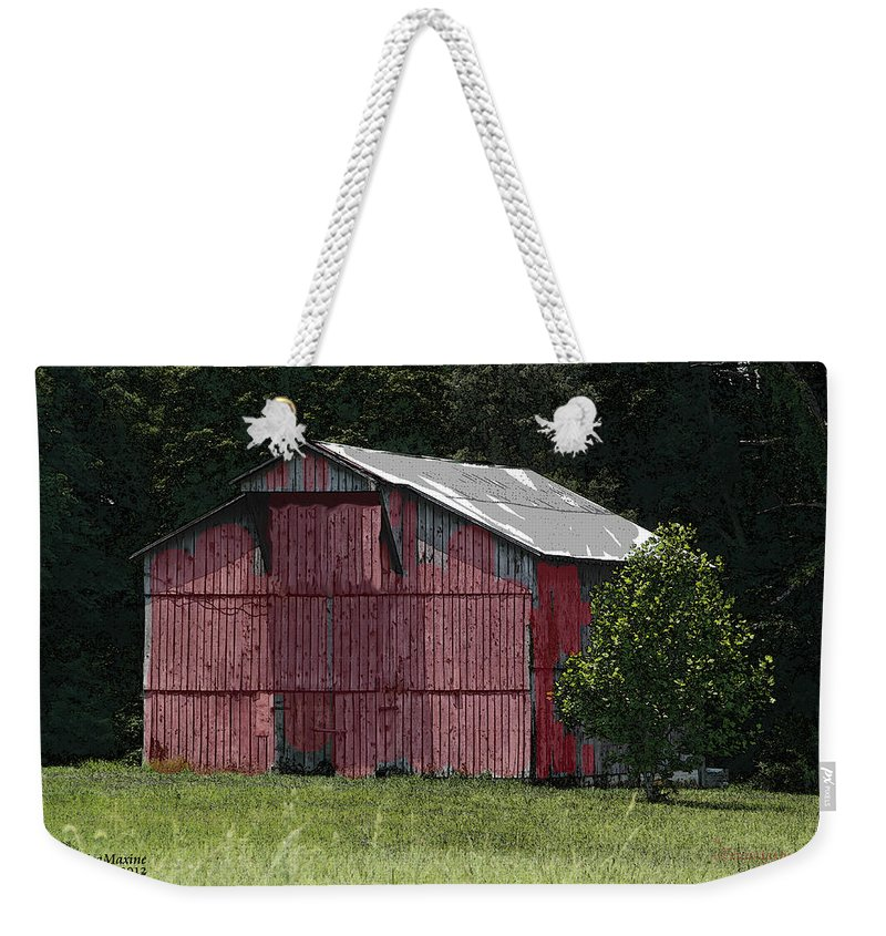 Barn Weekender Tote Bag featuring the photograph Barn by Ericamaxine Price
