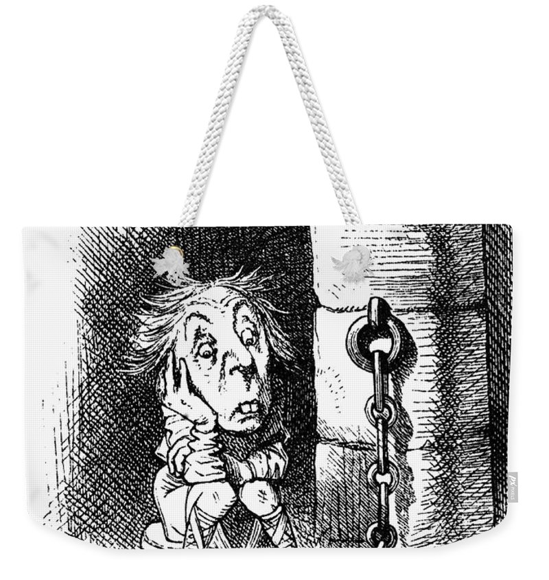 1872 Weekender Tote Bag featuring the photograph Carroll: Looking Glass by Granger